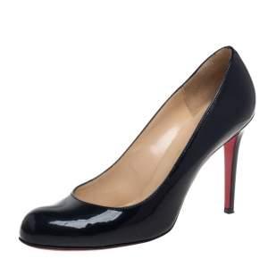 Chrsitan Louboutin Black Patent Leather Simple Pumps Size 41