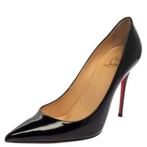 Christian Louboutin Black Patent Leather Decolette Pumps Size 40