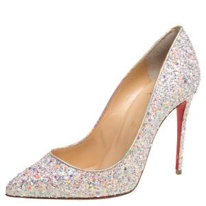 Christian Louboutin Glitter Pigalle Follies Pumps Size 37.5