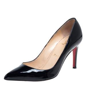 Christian Louboutin Black Patent Leather Pigalle Pumps Size 36