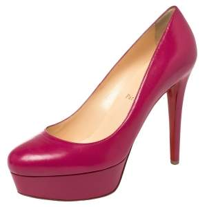 Christian Louboutin Pink Leather Bianca Pumps Size 39.5
