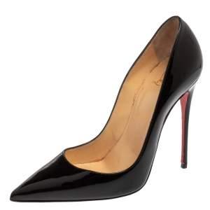Christian Louboutin Black Patent Leather So Kate Pumps Size 38.5