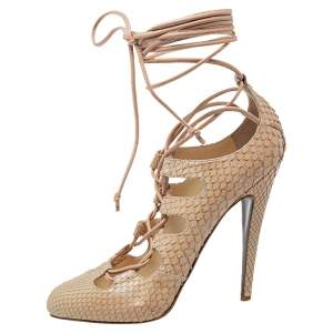 Christian Louboutin Beige Python Bloody Mary Pumps Size 39