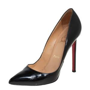 Christian Louboutin Black Patent Leather So Kate Pumps Size 37.5