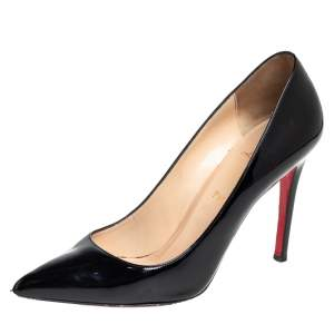 Christian Louboutin Black Patent Leather D'Orsay Pumps Size 39.5