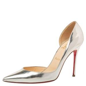 Christian Louboutin Gold Patent Leather D'Orsay Pumps Size 39