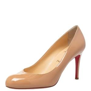 Christian Louboutin Beige Patent Leather Fifi Pumps Size 39.5