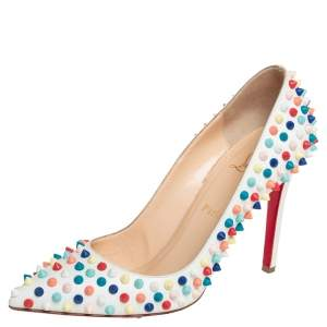 Christian Louboutin Multicolor Leather Pigalle Spike Pumps Size 39