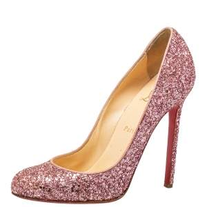 Christian Louboutin Pink Glitter Fifille Pumps Size 39.5