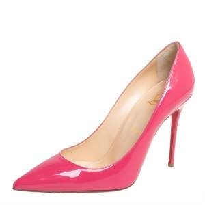 Christian Louboutin Pink Patent Leather So Kate Pumps Size 38.5