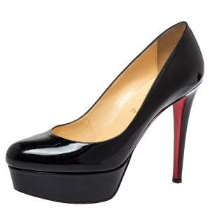 Christian Louboutin Black Patent Leather Bianca Pumps Size 38