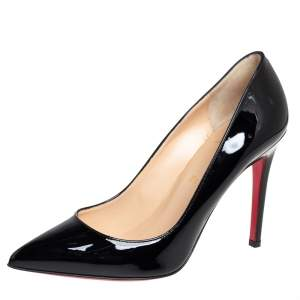 Christian Louboutin Black Patent Leather Pigalle Pumps Size 39