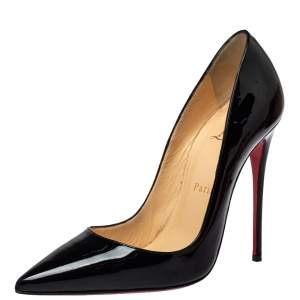 Christian Louboutin Black Patent Leather So Kate Pumps Size 37