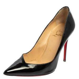 Christian Louboutin Black Patent Leather Corneille Pumps Size 35