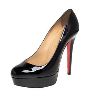 Christian Louboutin Black Patent Leather Bianca Pumps Size 38.5