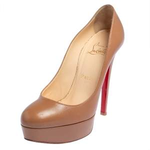Christian Louboutin Brown Leather Bianca Pumps Size 36