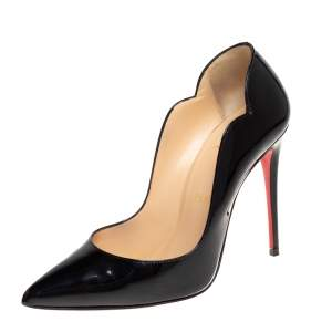 Christian Louboutin Black Patent Leather Hot Chick Pumps Size 36