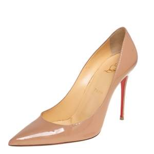 Christian Louboutin Nude Patent Leather So Kate Pumps Size 41.5