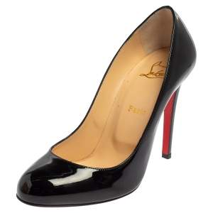 Christian Louboutin Black Patent Leather Fifille Pumps Size 39