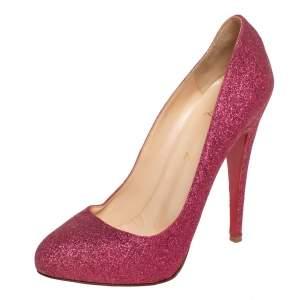 Christian Louboutin Pink Glitter Fifi Pumps Size 39