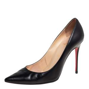 Christian Louboutin Black Leather Pigalle Pumps Size 40
