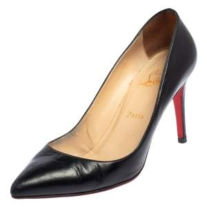 Christian Louboutin Black Leather Pigalle Pumps Size 39