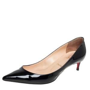 Christian Louboutin Black Patent Leather So Kate Pumps Size 40