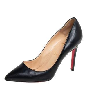 Christian Louboutin Black Leather Pigalle  Pumps Size 38.5