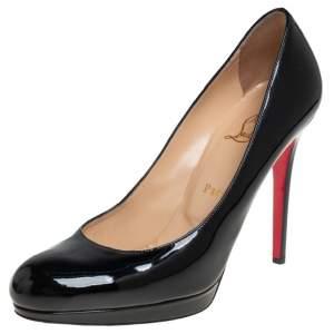 Christian Louboutin Black Patent Leather Pumps Size 39.5