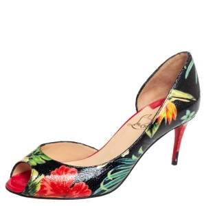Christian Louboutin Multicolor Leather  D'Orsay Pumps Size 35.5