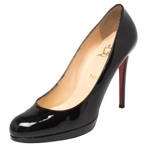 Christian Louboutin Black Patent Leather New Simple Pumps Size 40.5