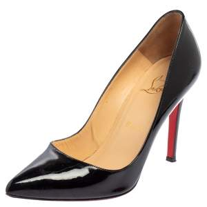 Christian Louboutin Black Patent Leather Pigalle Pumps Size 37