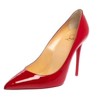 Christian Louboutin Red Patent Leather So Kate  Pumps Size 38