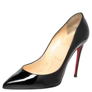 Christian Louboutin Black Patent Leather Pigalle Follies Pumps Size 38