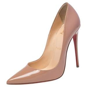 Christian Louboutin Beige Patent Leather So Kate Pumps Size 37.5