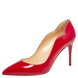 Christian Louboutin Red Patent Leather Hot Chick  Pumps Size 38.5