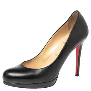 Christian Louboutin Black Leather New Simple Pumps Size 39