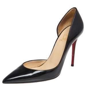 Christian Louboutin Black Patent Leather Iriza Pumps Size 37.5