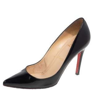 Christian Louboutin Black Patent Leather Pigalle Pumps Size 37.5
