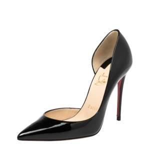Christian Louboutin Black Patent Leather Iriza Pumps Size 37
