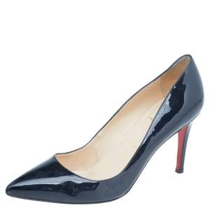 Christian Louboutin Black Patent Leather So Kate Pointed Toe Pumps Size 39