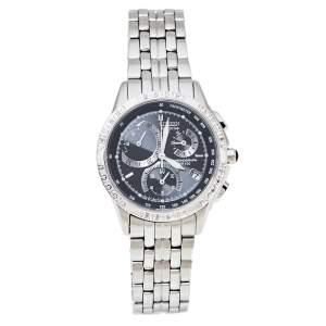 Citizen Black Stainless Steel Diamonds Eco-Drive Women's Wristwatch 32 mm