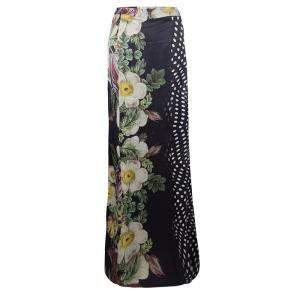 Class by Roberto Cavalli Floral and Polka Dot Print Maxi Skirt XS