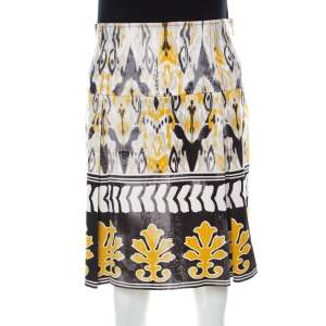 Class by Roberto Cavalli Multicolor Batik Printed Jersey Pleated Skirt M