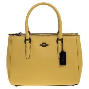 Coach Yellow Leather Mini Christie Carryall Satchel