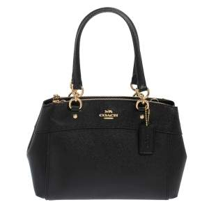 Coach Black Leather Mini Brooke Carryall Satchel