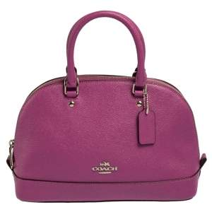 Coach Purple Leather Dome Satchel