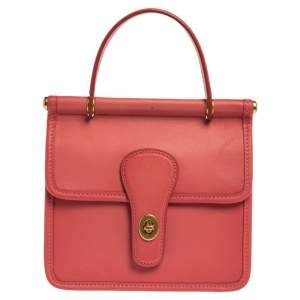 Coach Pink Leather Willis Top Handle Bag