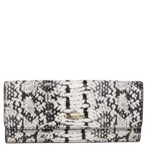 Coach Monochrome Python Embossed Leather Madison Continental Wallet