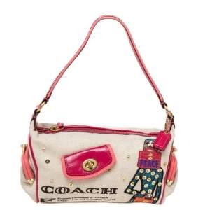 Coach Multicolor Bonnie Cashin Print Canvas And Leather Baguette Shoulder Bag